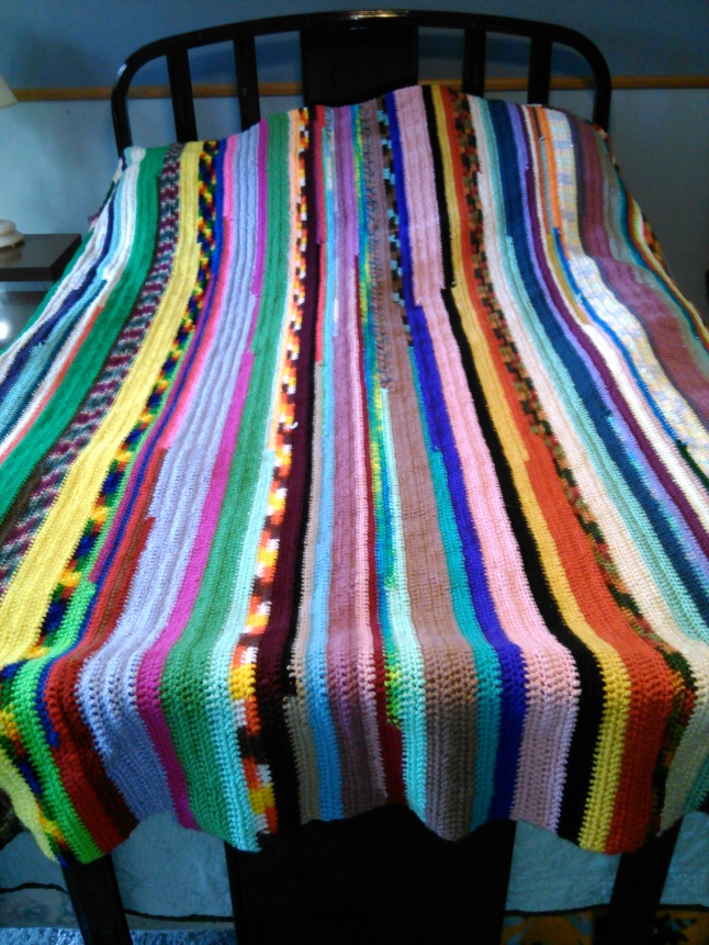 crocheted afghans, frugal living, simple life